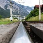 Bahnübergang Alpen Bahngleise