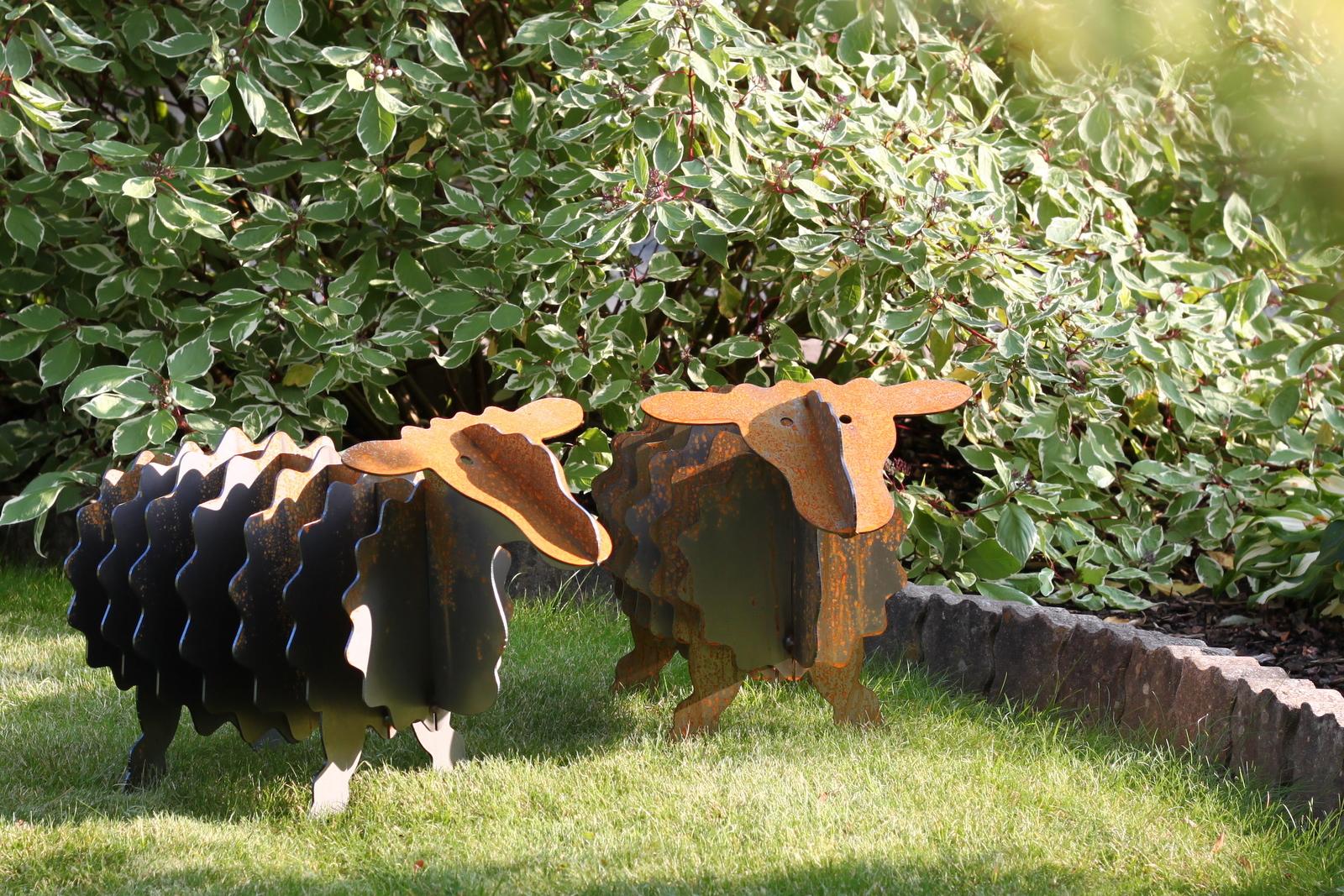 gartenskulpturen metall rost: gartenkunst metall stein gartendeko, Garten und Bauen