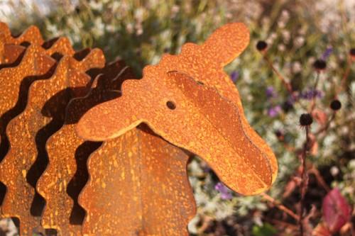 Gartenskulptur deko schaf gartenfigur aus metall rostig for Gartendekoration tiere